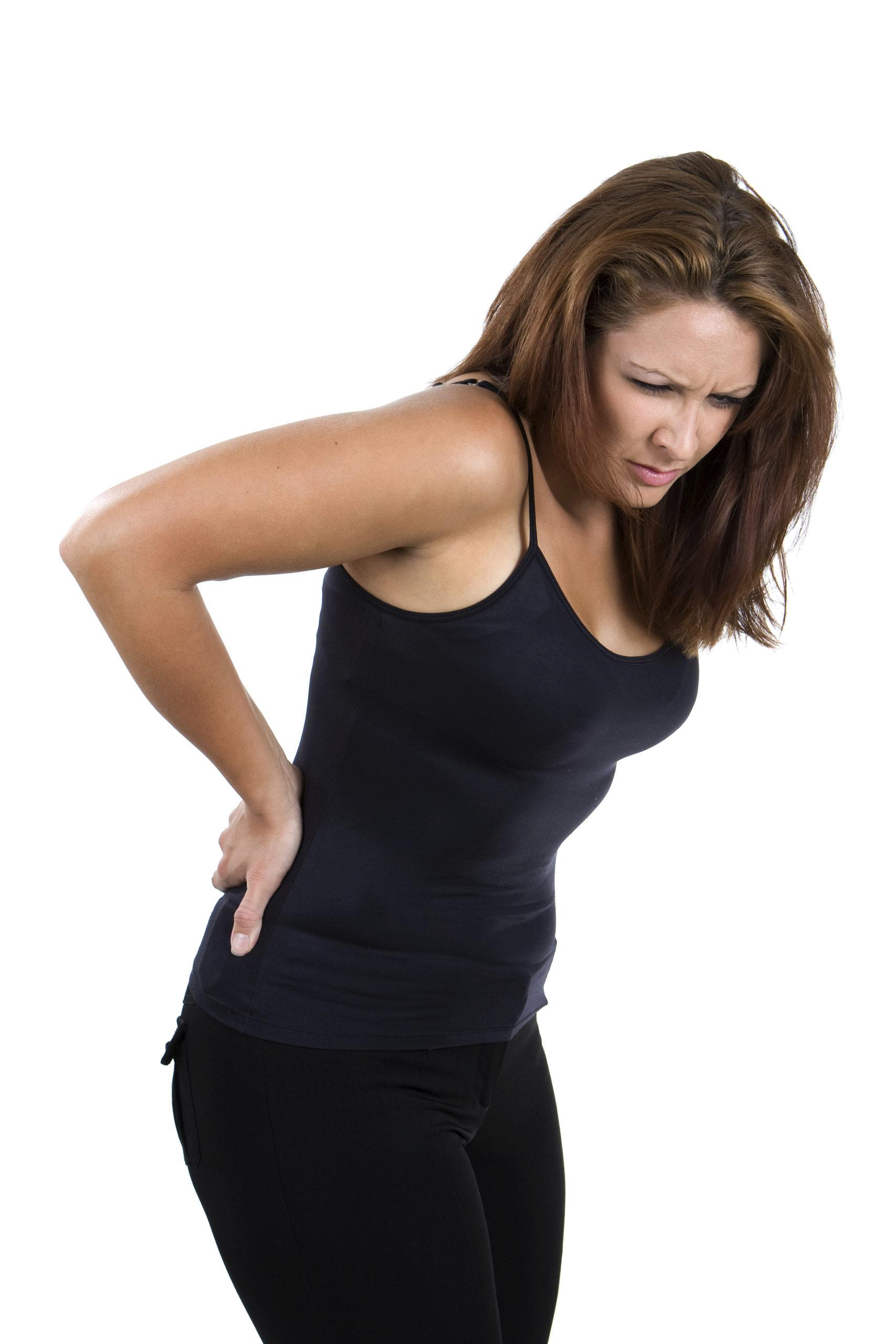 Common Symptoms of Untreated Whiplash! - image womanlowback-scaled on https://www.drlisaowen.com